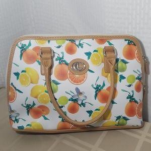 Lauren Conrad Orange lemon and lime purse